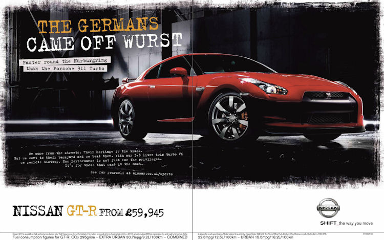 Nissan GT-R Ad from Europe | DrivingEnthusiast.net