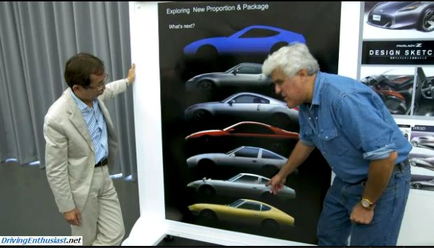 Jay Leno Visits The Nissan Design Studio For A 1st Look At The Next Z Drivingenthusiast Net