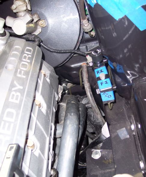 2000 Ford Focus wagin with 4.6 DOHC engine swap