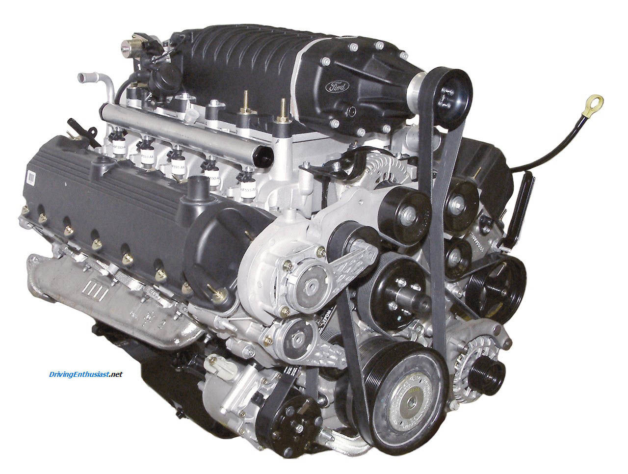 Ford supercharged V-10 hydrogen engine